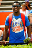 Former Florida Gators wide receiver and current Kansas City Chiefs wide receiver Frankie Hammond Jr. sporting his Frankie Hammond t-shirt during the 2015 Orange and Blue Debut.  April 11th 2015. Gator Country photo by David Bowie.