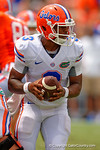 Florida Gators quarterback Treon Harris turns to hand off the ball during the 2015 Orange and Blue Debut.  April 11th 2015. Gator Country photo by David Bowie.