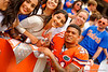 Florida Gators defensive back Jalen Tabor signs autographs during the 2015 Orange and Blue Debut.  April 11th 2015. Gator Country photo by David Bowie.