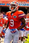 Florida Gators wide receiver Latroy Pittman runs onto the field during the 2015 Orange and Blue Debut.  April 11th 2015. Gator Country photo by David Bowie.