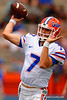 Florida Gators quarterback Will Grier throwing during the 2015 Orange and Blue Debut.  April 11th 2015. Gator Country photo by David Bowie.