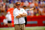 Florida Gators head coach Jim McElwain watches during the 2015 Orange and Blue Debut.  April 11th 2015. Gator Country photo by David Bowie.