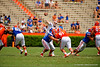 Florida Gators quarterback Skyler Mornhinweg throws downfield during the 2015 Orange and Blue Debut.  April 11th 2015. Gator Country photo by David Bowie.