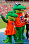 Albert and Alberta singing We Are The Boys during the 2015 Orange and Blue Debut.  April 11th 2015. Gator Country photo by David Bowie.