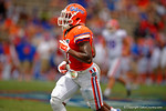 Florida Gators safety Duke Dawson sprints downfield on a kickoff during the 2015 Orange and Blue Debut.  April 11th 2015. Gator Country photo by David Bowie.