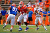Florida Gators quarterback Will Grier drops back to pass during the 2015 Orange and Blue Debut.  April 11th 2015. Gator Country photo by David Bowie.