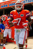 Florida Gators safety Duke Dawson runs onto the field during the 2015 Orange and Blue Debut.  April 11th 2015. Gator Country photo by David Bowie.