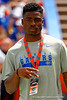 2016 Florida Gators recruit Chauncey Gardner poses for the camera during the 2015 Orange and Blue Debut.  April 11th 2015. Gator Country photo by David Bowie.