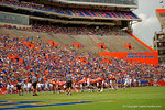 Florida Gators kicker Austin Hardin lines up for a field goal attempt during the 2015 Orange and Blue Debut.  April 11th 2015. Gator Country photo by David Bowie.