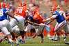 Florida Gators running back Kelvin Taylor rushing during the 2015 Orange and Blue Debut.  April 11th 2015. Gator Country photo by David Bowie.