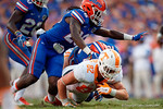 during the second half as the Gators come from behind late in the fourth quarter at home to beat the Tennessee Volunteers 28-27.  September 26th, 2015. Gator Country photo by David Bowie.