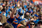 A Florida Gators Storm Trooper cheers on as the Gators come from behind late in the fourth quarter at home to beat the Tennessee Volunteers 28-27.  September 26th, 2015. Gator Country photo by David Bowie.