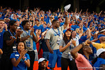 Florida Gators recruit Chauncey Gardner celebrates after the Antonio Calloway touchdown as the Gators come from behind late in the fourth quarter at home to beat the Tennessee Volunteers 28-27.  September 26th, 2015. Gator Country photo by David Bowie.