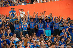 Florida Gator fans cheer on their team during the second half as the Gators come from behind late in the fourth quarter at home to beat the Tennessee Volunteers 28-27.  September 26th, 2015. Gator Country photo by David Bowie.