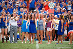 The Florida Gators softball team is honored at the game as the Gators come from behind late in the fourth quarter at home to beat the Tennessee Volunteers 28-27.  September 26th, 2015. Gator Country photo by David Bowie.