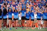 The Florida Gators volleyball team is honord as the Gators come from behind late in the fourth quarter at home to beat the Tennessee Volunteers 28-27.  September 26th, 2015. Gator Country photo by David Bowie.