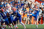 Florida Gators punter Johnny Townsend punts the ball away as the Gators come from behind late in the fourth quarter at home to beat the Tennessee Volunteers 28-27.  September 26th, 2015. Gator Country photo by David Bowie.