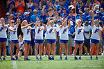 The Florida Gator gymnastics team is honored during the game as the Gators come from behind late in the fourth quarter at home to beat the Tennessee Volunteers 28-27.  September 26th, 2015. Gator Country photo by David Bowie.