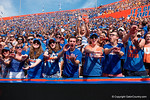 Florida Gator fans cheer on as the Gators come from behind late in the fourth quarter at home to beat the Tennessee Volunteers 28-27.  September 26th, 2015. Gator Country photo by David Bowie.