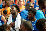 Florida Gator recruits sing along during the National Anthem as the Gators come from behind late in the fourth quarter at home to beat the Tennessee Volunteers 28-27.  September 26th, 2015. Gator Country photo by David Bowie.