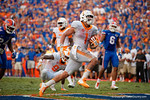 Tennessee Volunteers running back Jalen Hurd sprints into the endzone to put the Vols up 27-14 during the second half as the Gators come from behind late in the fourth quarter at home to beat the Tennessee Volunteers 28-27.  September 26th, 2015. Gator Country photo by David Bowie.
