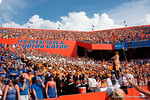 The Tenneessee Vollunteers band plays Rocky Top as the Gators come from behind late in the fourth quarter at home to beat the Tennessee Volunteers 28-27.  September 26th, 2015. Gator Country photo by David Bowie.