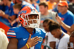 Florida Gators defensive back Vernon Hargreaves, III during the National Anthem as the Gators come from behind late in the fourth quarter at home to beat the Tennessee Volunteers 28-27.  September 26th, 2015. Gator Country photo by David Bowie.