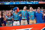 Florida Gator fans sing the school alma matter before the fourth quarter during the second half as the Gators come from behind late in the fourth quarter at home to beat the Tennessee Volunteers 28-27.  September 26th, 2015. Gator Country photo by David Bowie.