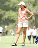 Florida sophomore Lauren Uzelatz waits to putt on the 9th hole during the first round of the NCAA Women's Golf East Regional on Thursday, May 7, 2009 at the Mark Bostick Golf Course in Gainesville, Fla. / Gator Country photo by Tim Casey