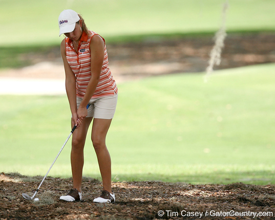 Florida sophomore Lauren Uzelatz hits on the 9th hole during the first round of the NCAA Women's Golf East Regional on Thursday, May 7, 2009 at the Mark Bostick Golf Course in Gainesville, Fla. / Gator Country photo by Tim Casey