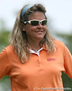 Florida coach Jill Briles-Hinton watches during the first round of the NCAA Women's Golf East Regional on Thursday, May 7, 2009 at the Mark Bostick Golf Course in Gainesville, Fla. / Gator Country photo by Tim Casey