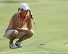 Florida sophomore Jessica Yadloczky reads a green during the first round of the NCAA Women's Golf East Regional on Thursday, May 7, 2009 at the Mark Bostick Golf Course in Gainesville, Fla. / Gator Country photo by Tim Casey