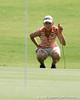 Florida sophomore Lauren Uzelatz reads the green during the first round of the NCAA Women's Golf East Regional on Thursday, May 7, 2009 at the Mark Bostick Golf Course in Gainesville, Fla. / Gator Country photo by Tim Casey