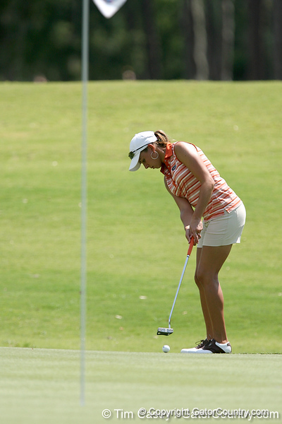 Florida sophomore Lauren Uzelatz putts during the first round of the NCAA Women's Golf East Regional on Thursday, May 7, 2009 at the Mark Bostick Golf Course in Gainesville, Fla. / Gator Country photo by Tim Casey