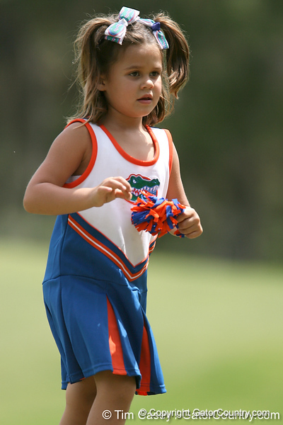 A Florida fan watches during the first round of the NCAA Women's Golf East Regional on Thursday, May 7, 2009 at the Mark Bostick Golf Course in Gainesville, Fla. / Gator Country photo by Tim Casey