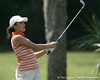 Florida freshman Evan Jensen follows through on a shot during the first round of the NCAA Women's Golf East Regional on Thursday, May 7, 2009 at the Mark Bostick Golf Course in Gainesville, Fla. / Gator Country photo by Tim Casey