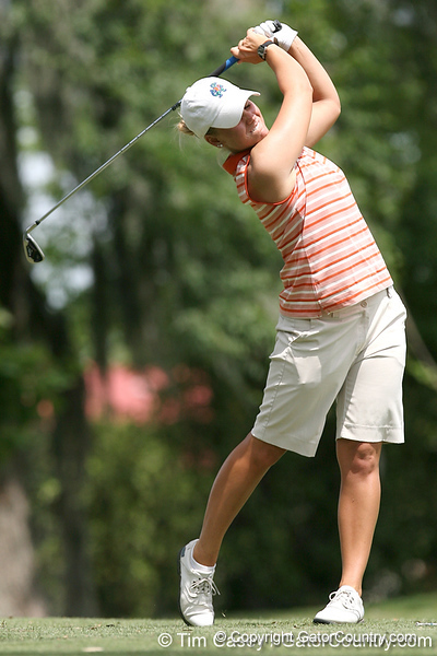 Florida sophomore Jessica Yadloczky tees off on the 12th hole during the first round of the NCAA Women's Golf East Regional on Thursday, May 7, 2009 at the Mark Bostick Golf Course in Gainesville, Fla. / Gator Country photo by Tim Casey