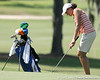 Florida freshman Evan Jensen chips onto the green during the first round of the NCAA Women's Golf East Regional on Thursday, May 7, 2009 at the Mark Bostick Golf Course in Gainesville, Fla. / Gator Country photo by Tim Casey