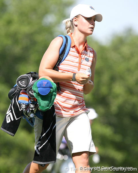 Florida sophomore Jessica Yadloczky walks up the fairway during the first round of the NCAA Women's Golf East Regional on Thursday, May 7, 2009 at the Mark Bostick Golf Course in Gainesville, Fla. / Gator Country photo by Tim Casey