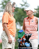 Florida coach Jill Briles-Hinton talks with Jessica Yadloczky during the first round of the NCAA Women's Golf East Regional on Thursday, May 7, 2009 at the Mark Bostick Golf Course in Gainesville, Fla. / Gator Country photo by Tim Casey