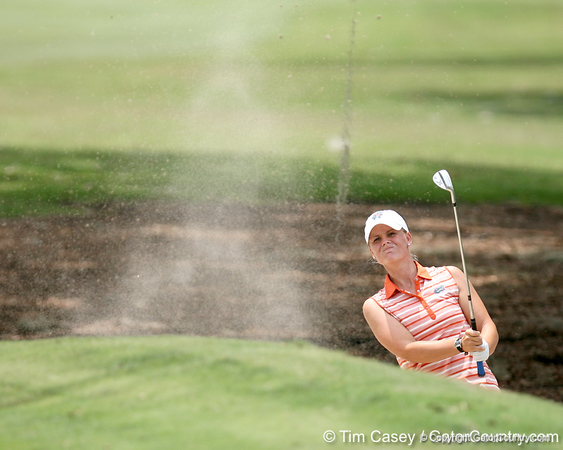 Florida sophomore Jessica Yadloczky hits out of a greenside bunker on the 9th hole during the first round of the NCAA Women's Golf East Regional on Thursday, May 7, 2009 at the Mark Bostick Golf Course in Gainesville, Fla. / Gator Country photo by Tim Casey