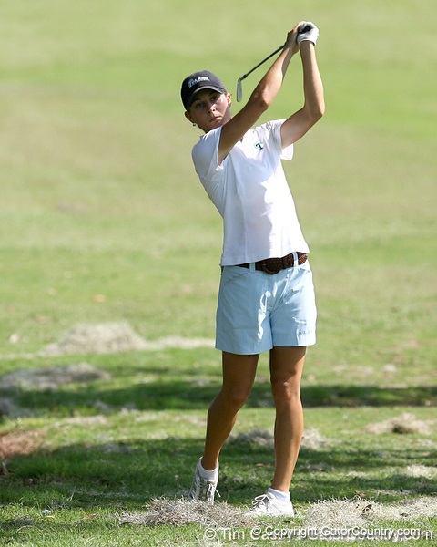 A Tulane golfer shoots for the green during the first round of the NCAA Women's Golf East Regional on Thursday, May 7, 2009 at the Mark Bostick Golf Course in Gainesville, Fla. / Gator Country photo by Tim Casey