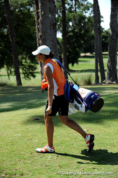 Evan Jensen of the University of Florida women's golf team competes in the NCAA East Regional on Friday, May 8, 2009 in Gainesville, Fla. at the Mark Bostick Golf Course. / Gator Country photo by Casey Brooke Lawson