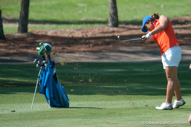 Florida junior Mia Piccio scores 71/69/69 during the Gators' win at the  Suntrust Gator Women's Golf Invitational  from March 16-18  at the Mark Bostick Golf Course. / Gator Country photo by Saj Guevara