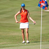 Florida senior Andrea Watts scores 78/71/73 during the Gators' win at the  Suntrust Gator Women's Golf Invitational  from March 16-18  at the Mark Bostick Golf Course. / Gator Country photo by Saj Guevara