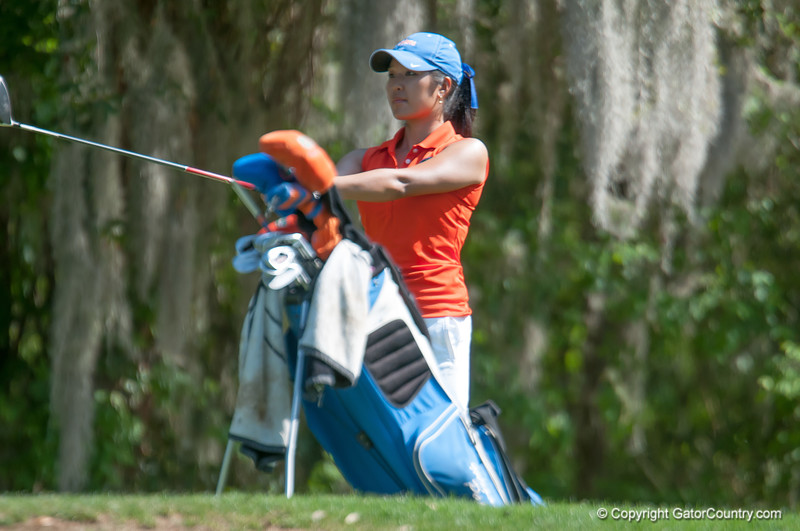 Florida junior Megan Pak scores 73/80/80 during the Gators' win at the  Suntrust Gator Women's Golf Invitational  from March 16-18  at the Mark Bostick Golf Course. / Gator Country photo by Saj Guevara