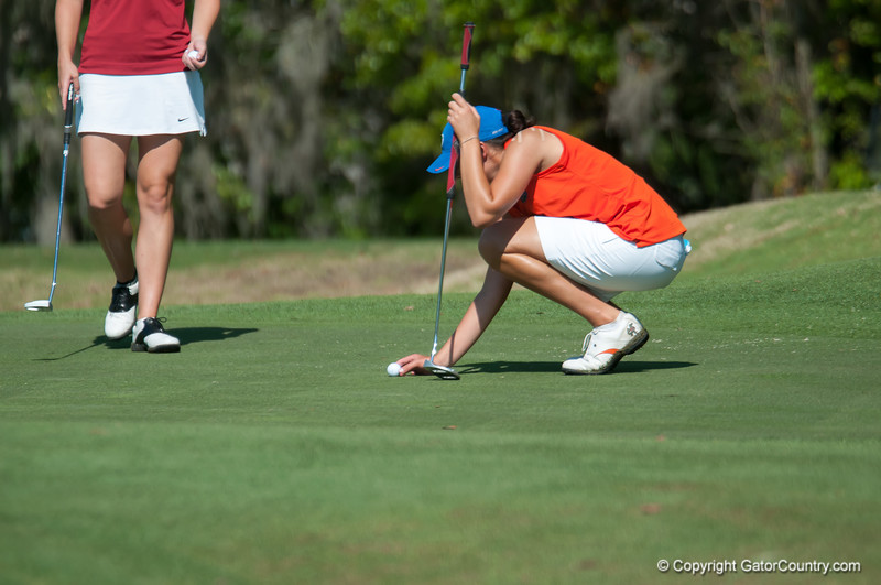 Florida senior Evan Jensen scores 77/69/69 during the Gators' win at the  Suntrust Gator Women's Golf Invitational  from March 16-18  at the Mark Bostick Golf Course. / Gator Country photo by Saj Guevara