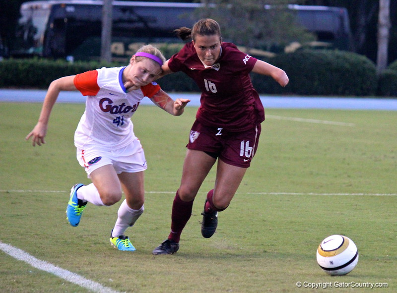 Senior Taylor Travis during the Gators' 3-0 loss to the Florida State Seminoles on Friday, August 30, 2013 at James G. Pressly Stadium in Gainesville, Fla. / Gator Country photo by Danielle Bloch