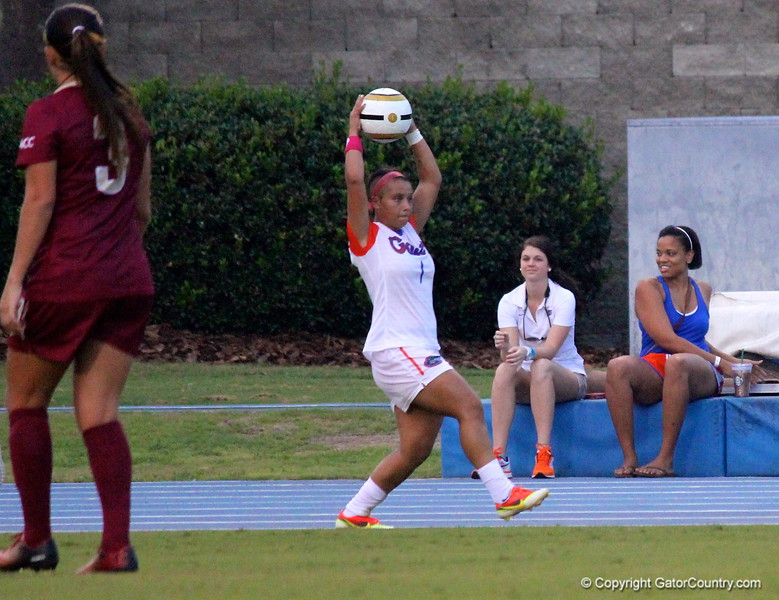 Junior Lauren Silver during the Gators' 3-0 loss to the Florida State Seminoles on Friday, August 30, 2013 at James G. Pressly Stadium in Gainesville, Fla. / Gator Country photo by Danielle Bloch