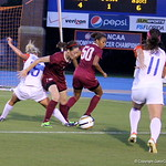 Tessa Andujar fighting for the ball during the Gators' 3-0 loss to the Florida State Seminoles on Friday, August 30, 2013 at James G. Pressly Stadium in Gainesville, Fla. / Gator Country photo by Danielle Bloch